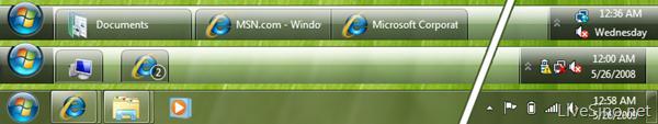 win7 taskbar ui