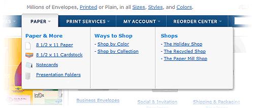 综合下拉菜单:下一个网页设计趋势
