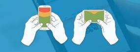 用户是如何拿手机的?