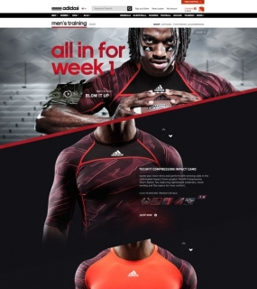 Unique Web Design, Adidas via @Kin Nirov