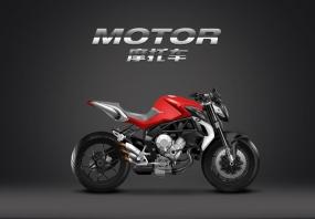 摩托车写实绘制