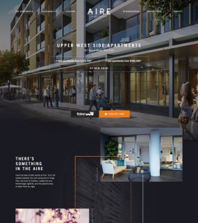 Aire Apartments One-Page Marketing Website