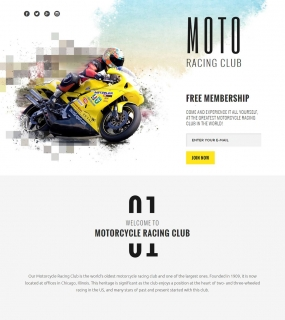 Racing Club Landing Page Template