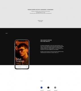 Eyewear website concept
