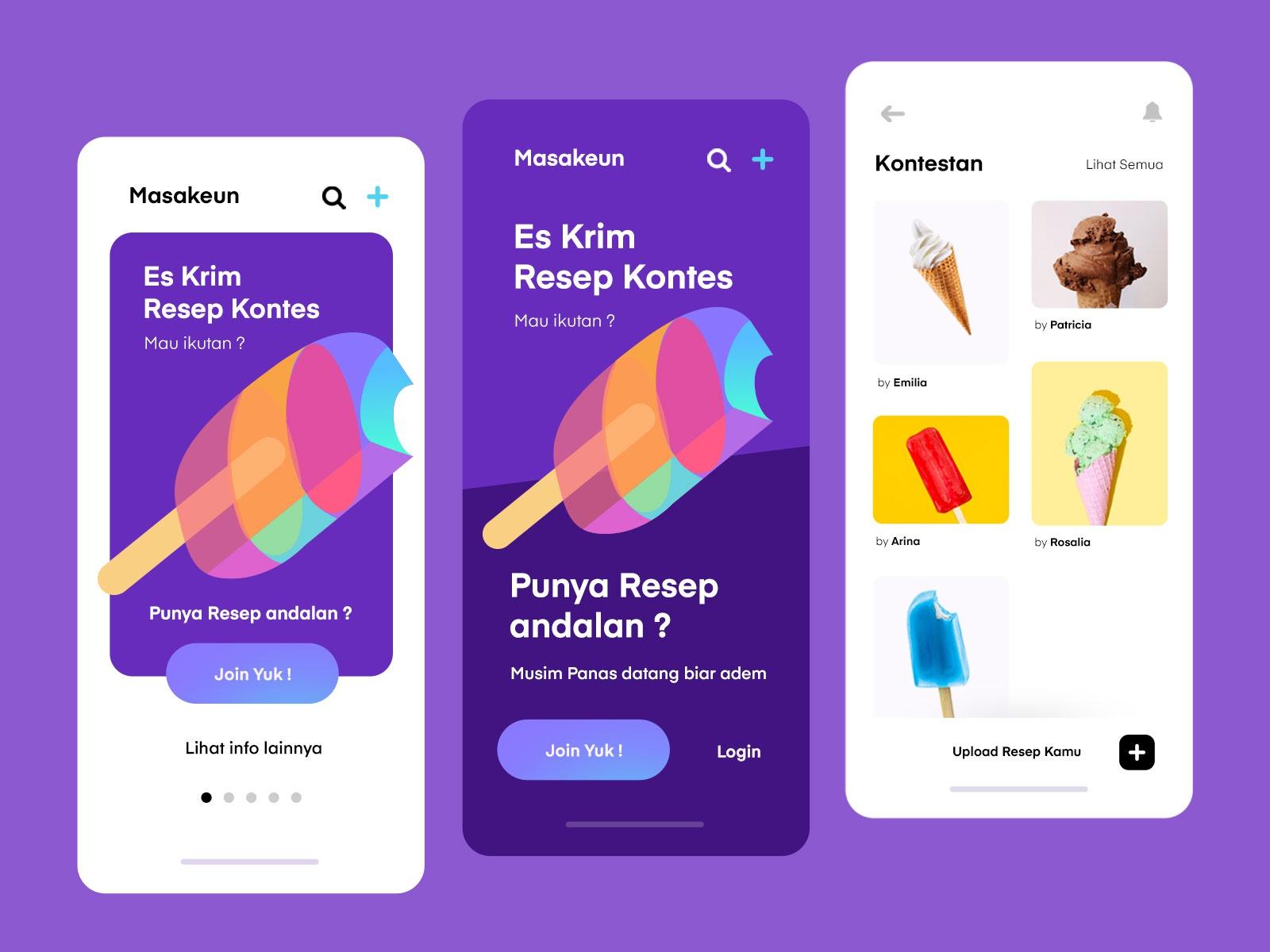 Ice Cream Contest Mobile App