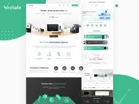 Virosafe Landing Page design