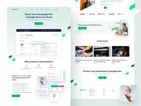 Sentinic - Homepage Landing Page