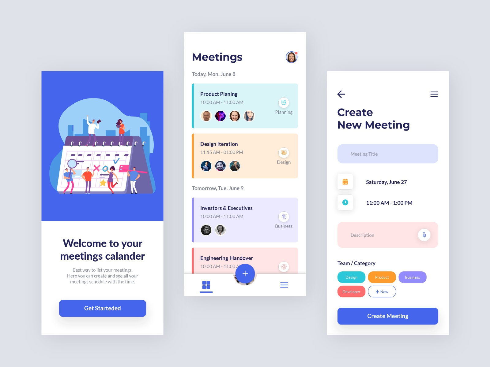 Meeting Scheduler App Design