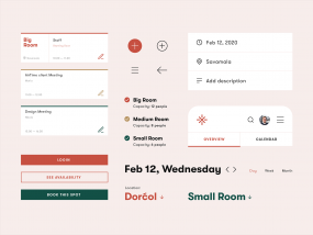 Meeting Rooms — Booking app [UI Components]