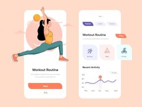 Fitness Mobile Application-UX/UI Design