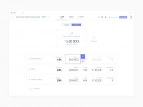 Visual retail budget planning (SaaS web app)