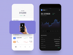 Сryptocurrency Investments UI App Design