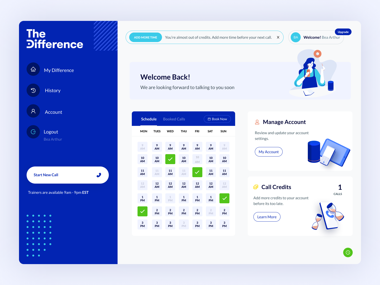 TheDifference Customer Dashboard