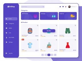 OnShop-Homepage Design