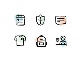 Icons for the dashboard of Gretel