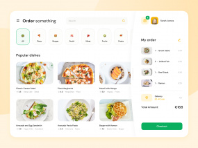 Website for a Food Delivery Service