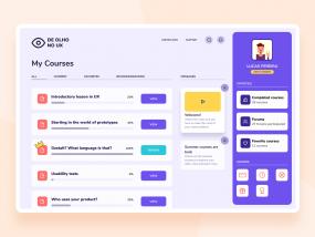 Course web - Colorful concept