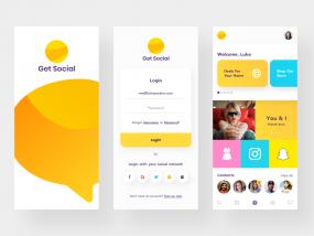 Get Social App Mobile Designs