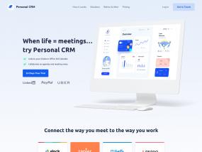 CRM SaaS Design Landing Page