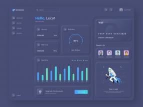 3D Style Dashboard Design