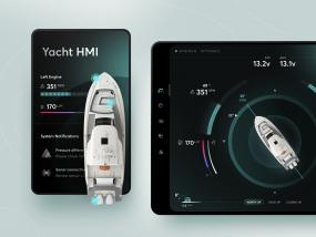 Yacht HMI Night Mode Concept