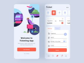 Ticketing App UI Light