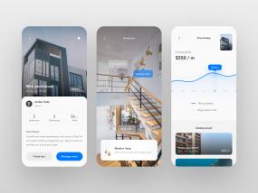 Apartment Rental App UI - part 2