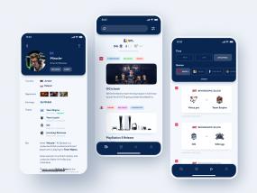 Cybersport Portal App Design