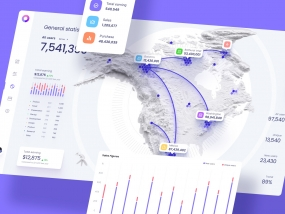 Orion UI kit - Data map visualization