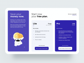 Pricing Page Web