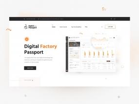 Digital Factory Passport - Landing Page
