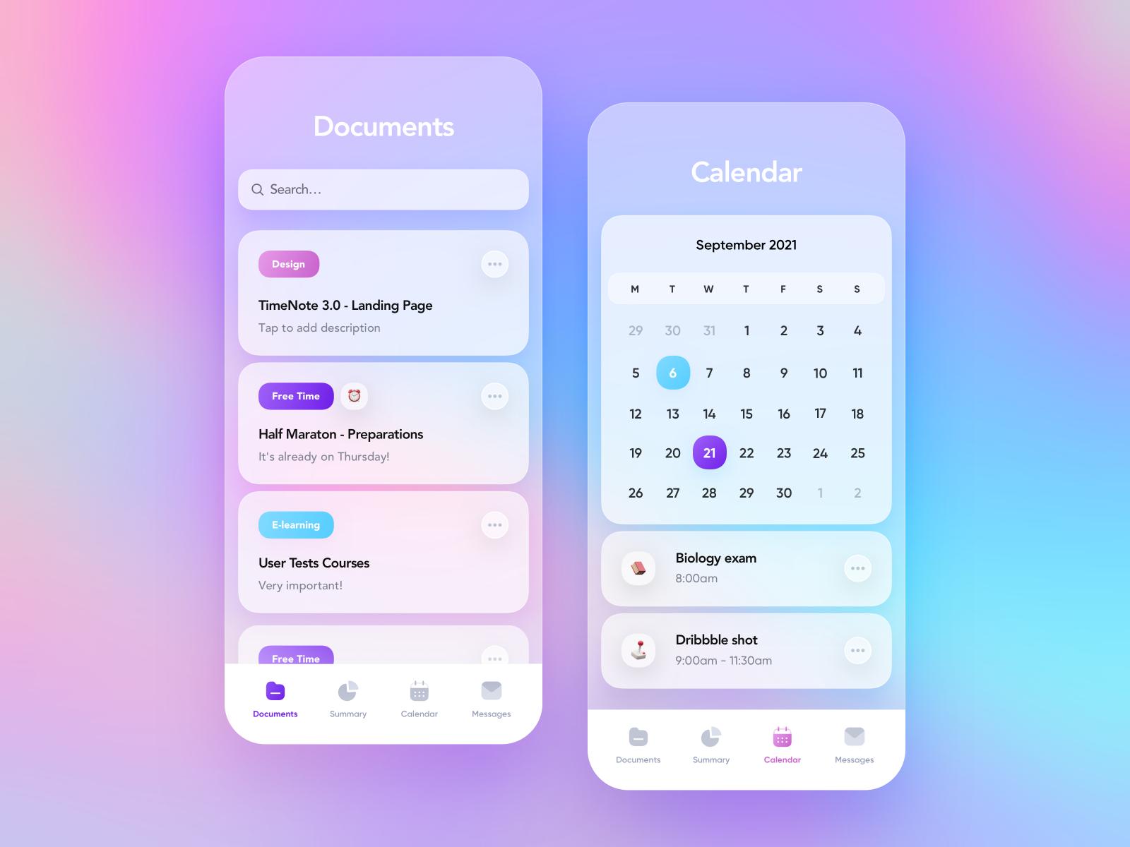 TimeNote 3.0 - Mobile Application