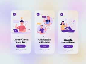Onboarding Screens E-learning App