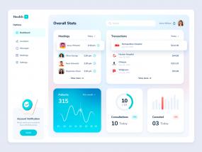HealthPlus Dashboard Web App Design