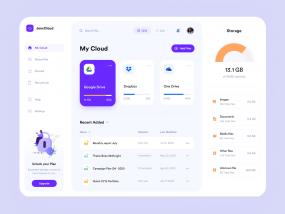 JenxCloud - File Management Dashboard