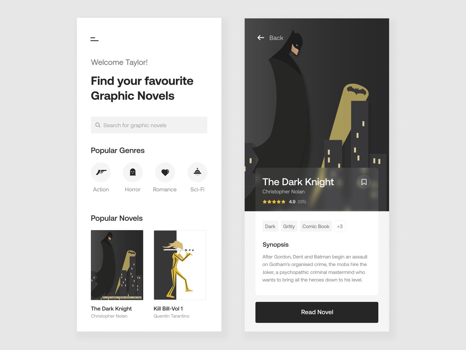 Graphic novel app