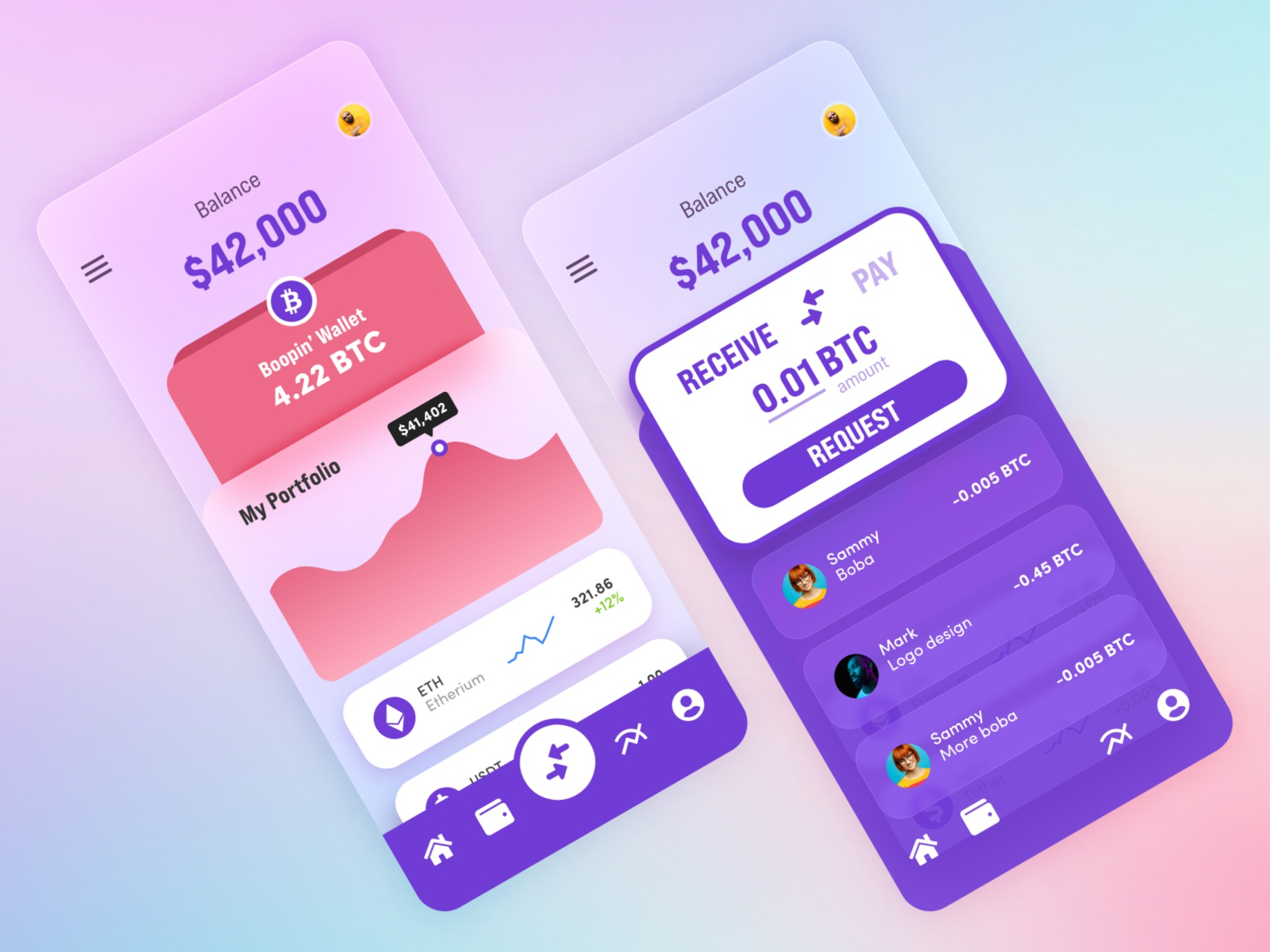 Finance / Cryptocurrency Wallet Application
