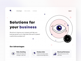 Management tool - Landing page