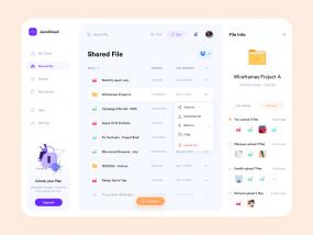 JenxCloud - Shared File Screen