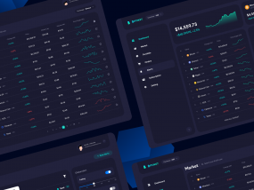 Bitoket cryptocurrency Dashboard UI and UX Design