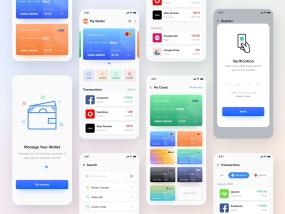 Mobile UI Kit for Wallet, Finance, Banking App.