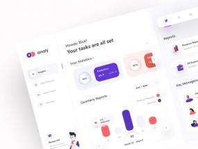 analy - Minimal Dashboard UI