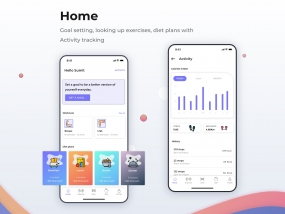 Home: dashboard of a fitness app