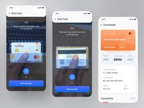 Wallet App Design | Scan Card | Card Details