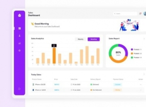 Sales Dashboard Design Free