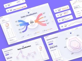 Data visualisation UI kit for Figma