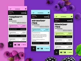 sooioo - groceries marketplace - iOS app design
