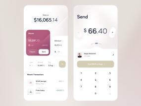 Finance App — Dashboard, Send Money