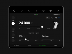 Dark theme - iPad app for dentists to control a chair
