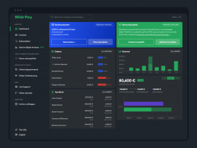 New Widr Pay dashboard (dark version)